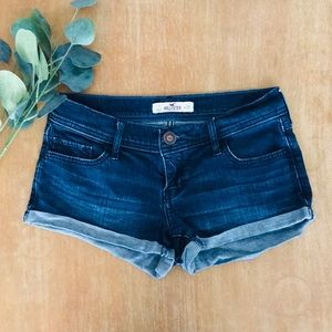 Hollister Dark Wash Jean Shorts